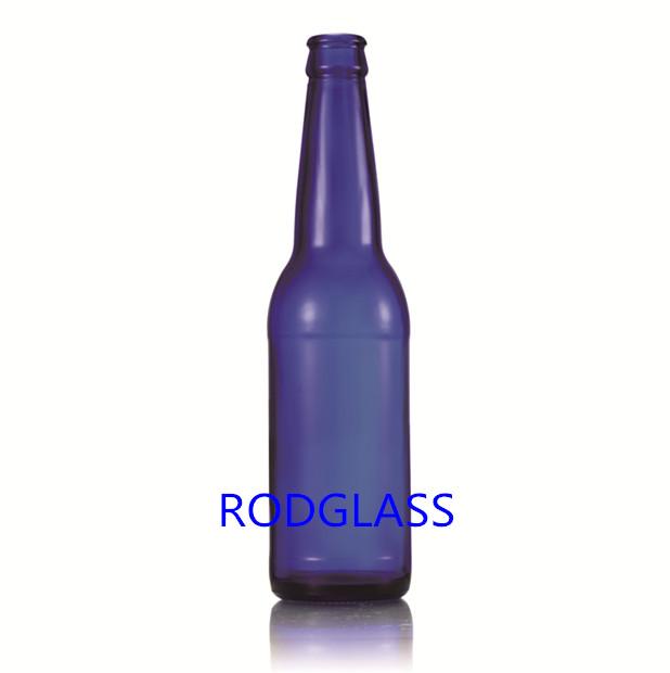 330ml钴蓝料啤酒瓶